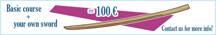 Basic course + your own sword = 100€ Contact us for more info!